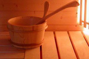 Деревянный тазик для бани