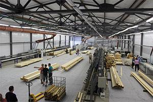 Завод по производству клееного бруса